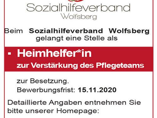 STELLENAUSSCHREIBUNG – Heimhelfer*in